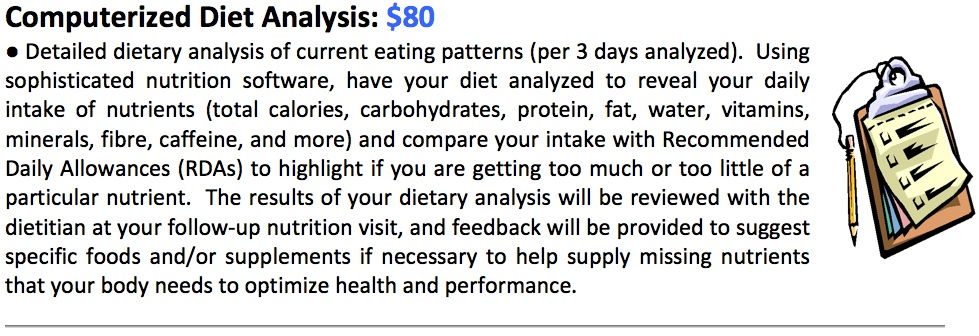 Computerized Diet Analysis