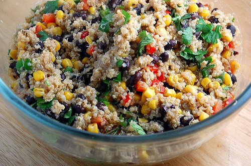 Red Quinoa And Black Bean Vegetable Salad Recipes — Dishmaps