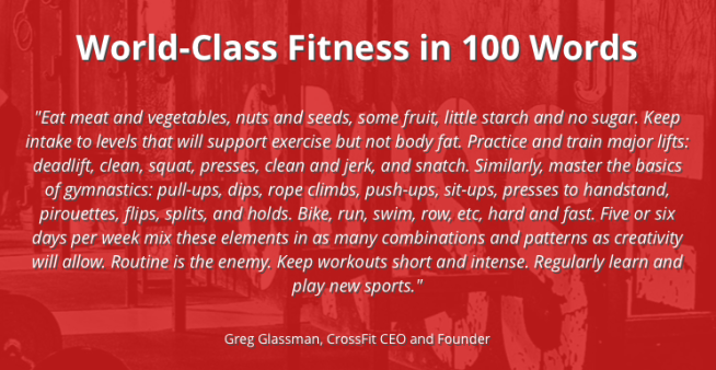 CrossFit, world class fitness in 100 words