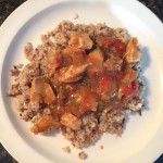 Spicy Stewed Chicken and Brown Rice