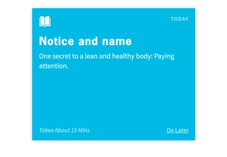 notice and name habit card